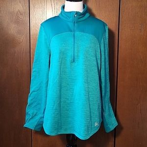 UNDER ARMOUR TEAL FITTED PULLOVER SZ XL